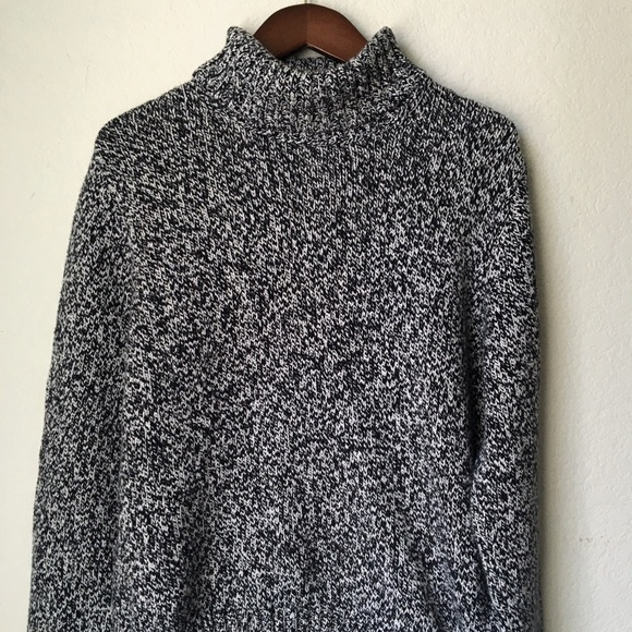 1deffa7540 Lands  End Sweaters - Black and White Knit Turtleneck Sweater